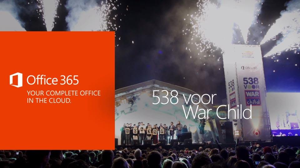 Filmen voor Office 365 helpt 538 voor War Child