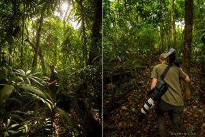 Saving Infinity - Crew draagt filmapparatuur door de jungle