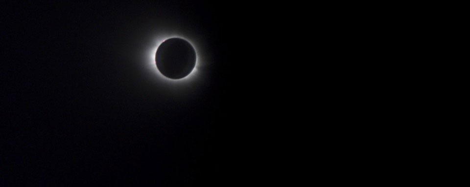 Total Eclipse filming from a plane