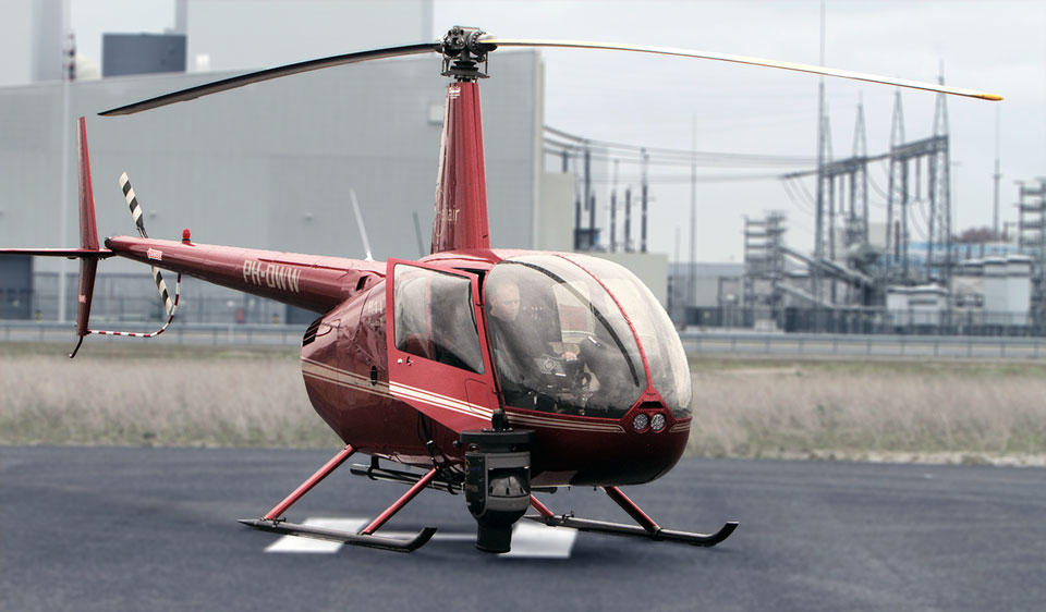 Helicopter with Cineflex Camera System
