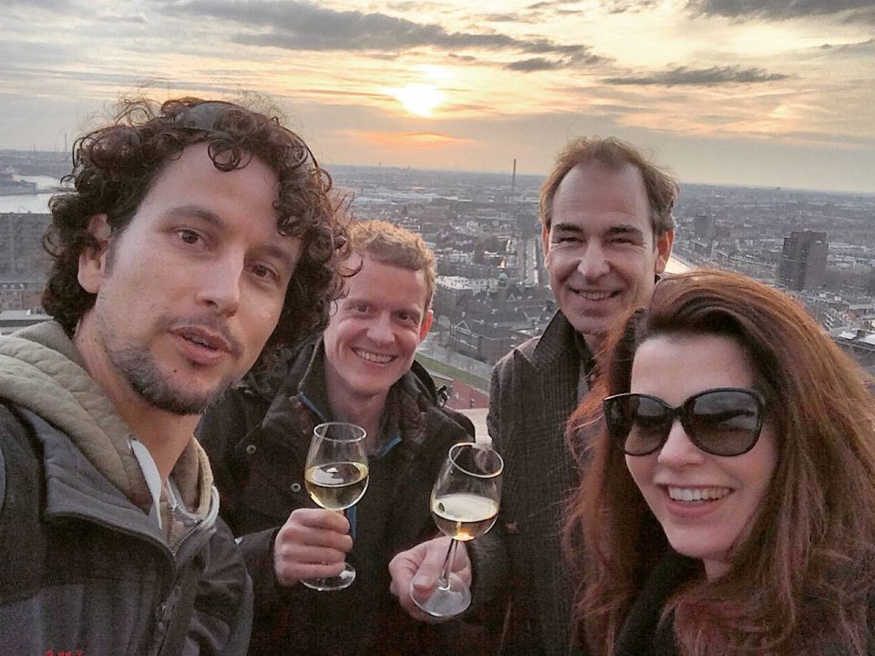 Kick-off drink at the Euromast - Romancing the Globe