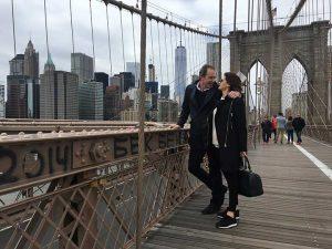 Erik de Vogel en Caroline De Bruijn ontdekken New York voor hun reisprogramma Romancing the Globe