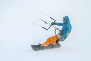 snowkiten met kitesurfer Martijn van Hoek in Åre, Zweden